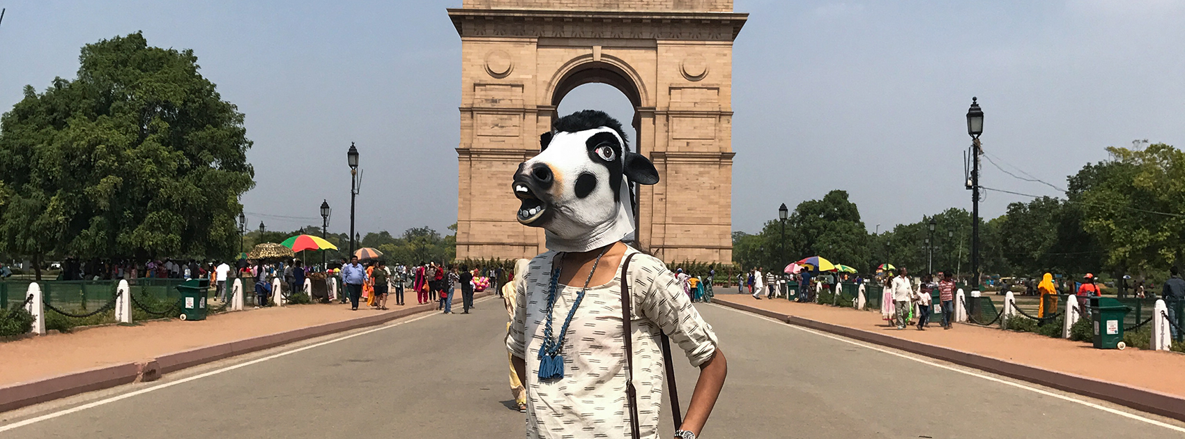 PHOTOS <br/> «The cow mask Project» <br/> par Sujatro Ghosh <br/> 1ère expo en France